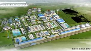 Petrochemical complex in Zhoushan, Zhejiang Province.